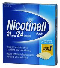 NICOTINELL 21 mg/24 h depotlaast 7 kpl