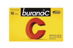 BURANA-C 400/300 mg tabl, kalvopääll 10 fol