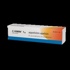 C-VIMIN  1 g poretabl (appelsiini)25 kpl