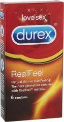 Durex Real Feel kondomi X6 kpl
